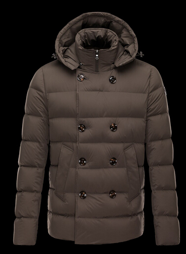 Moncler Jacket LOIRAC Pyrenex Men Hooded Down Jacket Brown