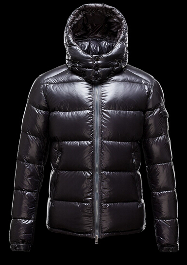Moncler Jacket Zin Down Jacket Men Hooded Parka Black