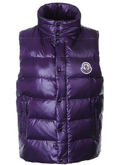 Moncler Men's Vest Blue Sleeveless Vest