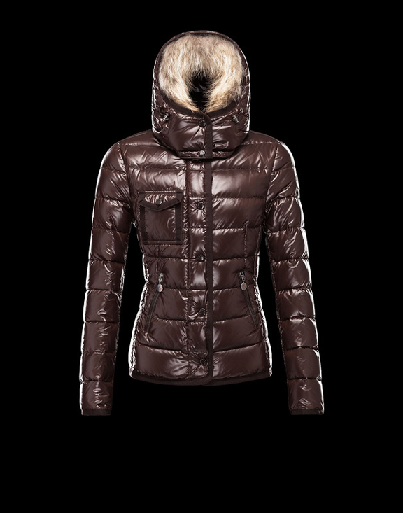 Women Moncler Down Jackets Armoise Brown