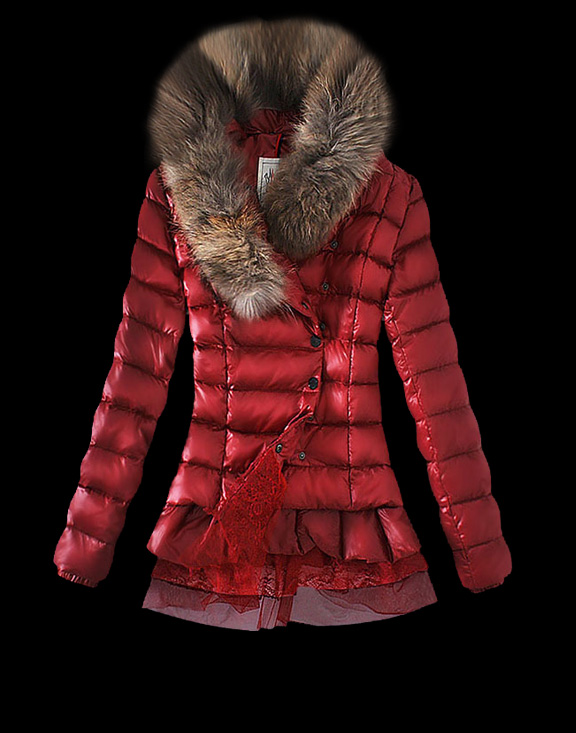 Women Moncler Down Jackets Red