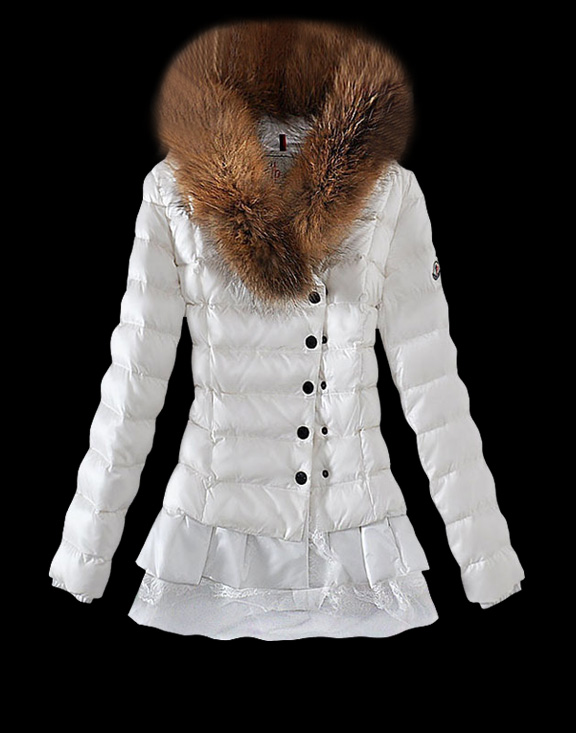 Women Moncler Down Jackets White