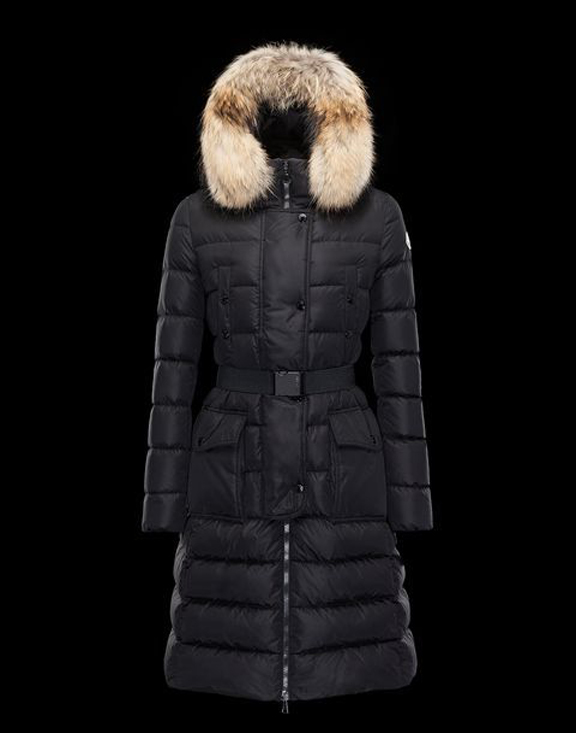 Women Moncler Long Down Jackets Khloe Black