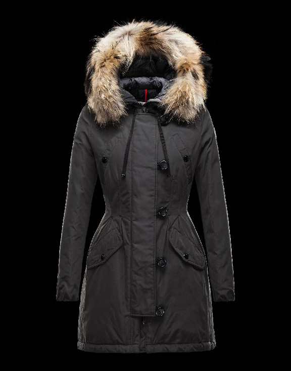 Women Moncler Long Parka & Coats Aredhel Black