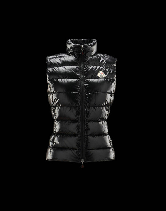 Women Moncler Vests Ghany Black
