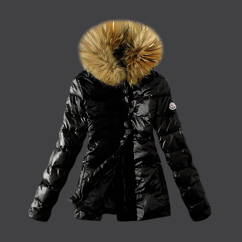 Buy moncler moncler down jacket black fur collar