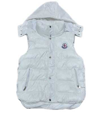 Moncler moncler women's white sleeveless vest