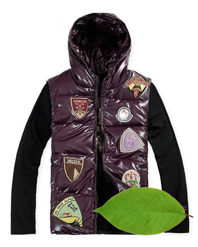 Moncler jacket multiple logo Man Purple