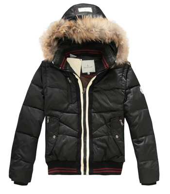 Moncler Down Jackets Black Rabbit Hat