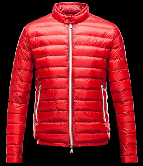Moncler Men's Down Jacket Red Winter Parka