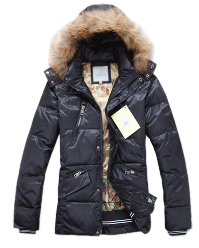 Moncler Men's Hooded Jackets Black