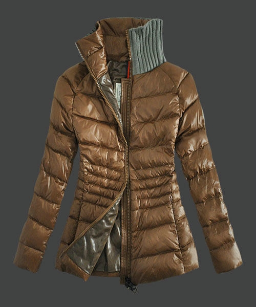 Moncler Down Jackets For Womens Zip Stand Collar Light