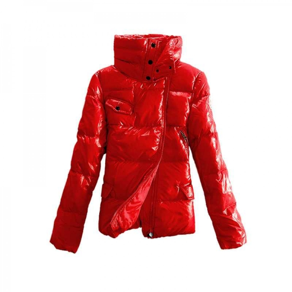 Moncler Down Jackets Women Stand Collar Red