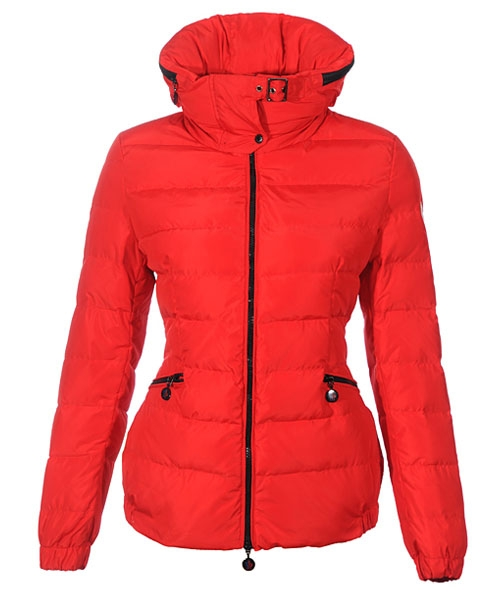 Moncler Epine Jackets For Womens Windproof Collar Zip Red