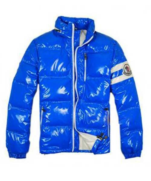 Moncler Eric Fashion Mens Down Jackets Short Blue