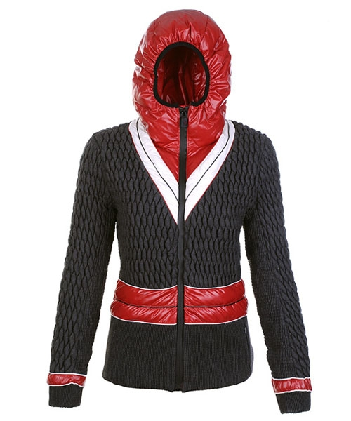 Moncler Fashion Down Jackets Womens Zip Hooded Black