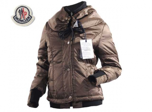 Moncler Featured Jackets Down For Women Chocolate