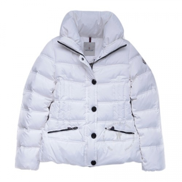 Moncler Fitted Puffer Down White Jacket Women