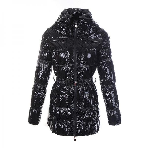 Moncler Goose Down Black Coat Women