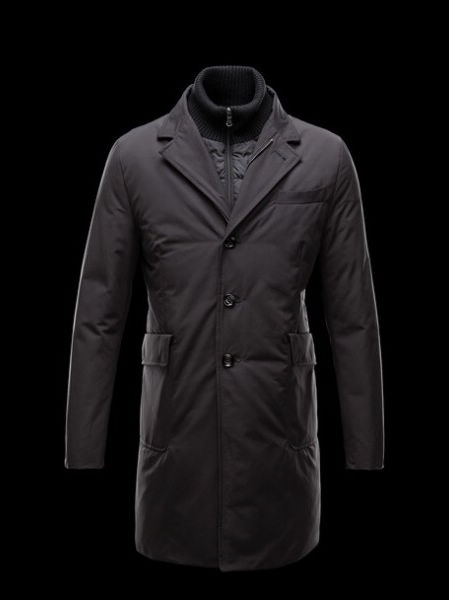 Moncler Grimbert Mens Coat Black Parka