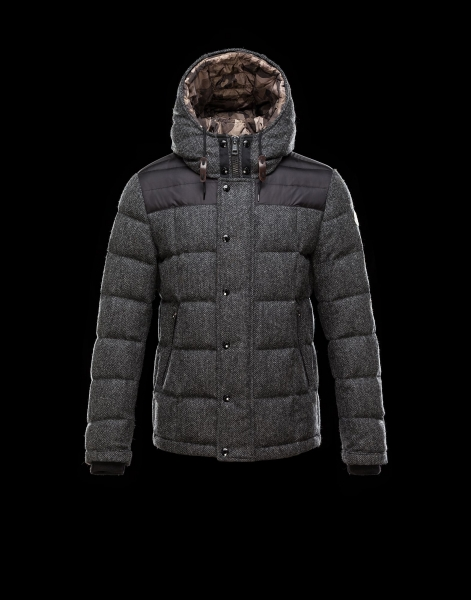 Moncler GUYENNE Featured Down Jackets Mens Gray