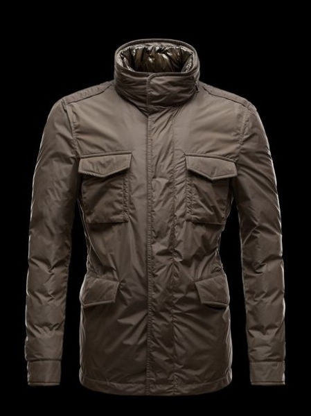 Moncler HectGold Down Jacket Brown Coats