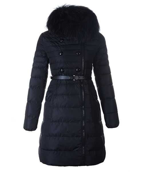 Moncler Herisson Fashion Coat Women Long Black