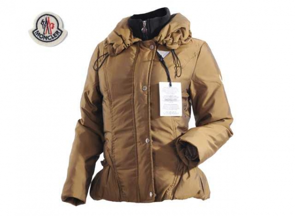 Moncler Jackets Women Long Sleeve With Golden
