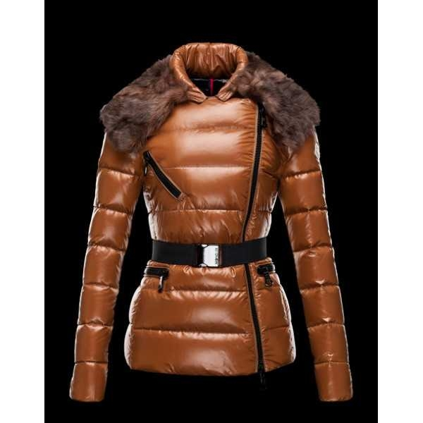 Moncler Jackets Women Short Hawk Brown