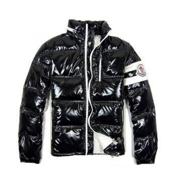 Moncler Leon Down Jackets Mens With Hooded Zip Black