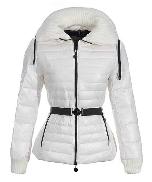 Moncler Lierre Women Jackets Sweater Collar White