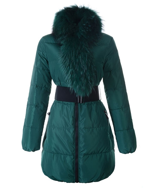 Moncler Lievre Womens Coat Designer Long Green