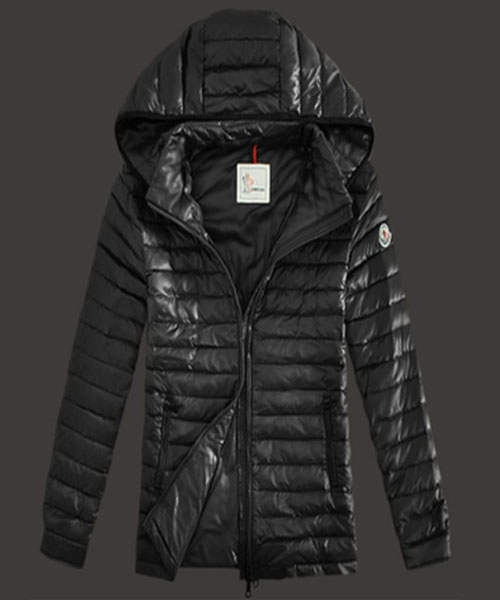 Moncler Lionel Mens Down Jackets Zip Hooded Black