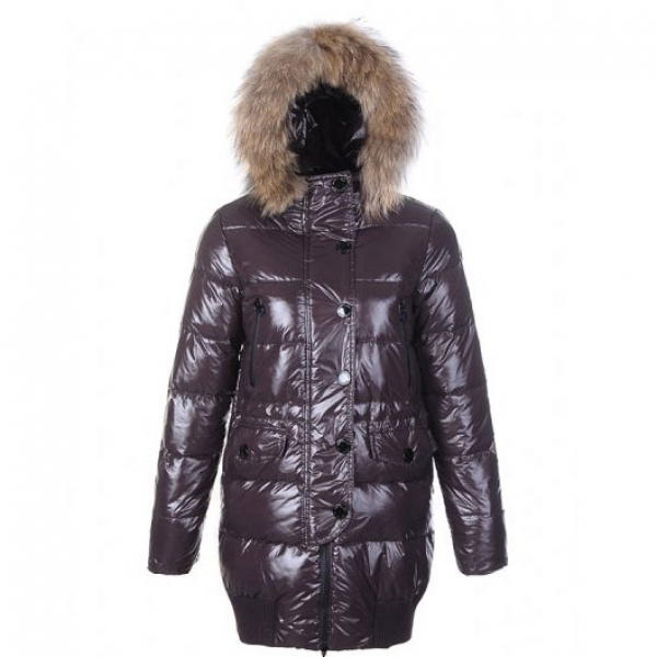 Moncler Loire Women Coat Coffee For Sale