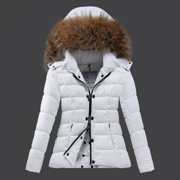 2016 Moncler Down Coats For Women With Fur Cap mc1086