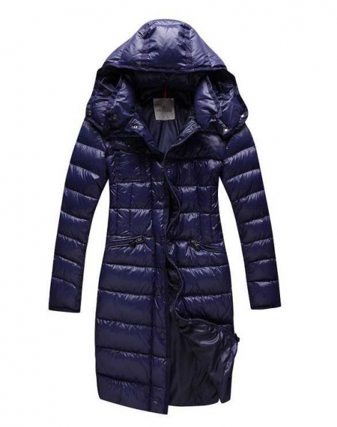 Moncler Long Coats For Women Blue