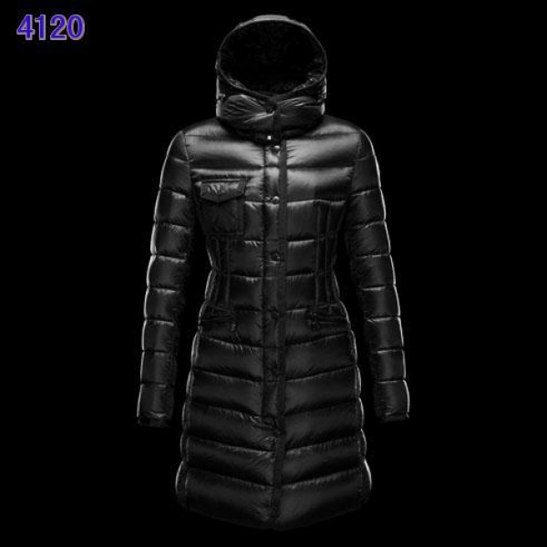 Moncler Long Coats For Women Red Black