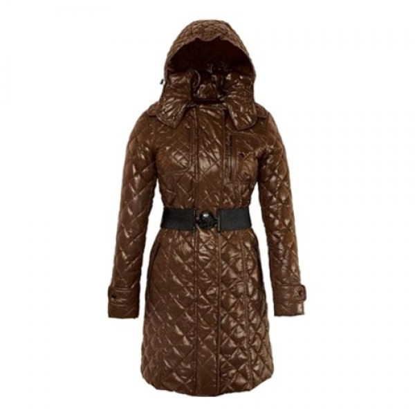 Moncler Long Down Special Lmited Edition Brown Coat Women