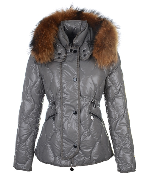 Moncler Lontre Fashion For Women Down Jacket Gray