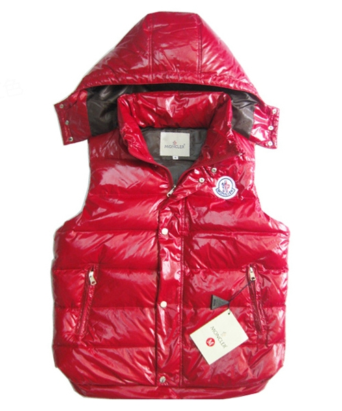 Moncler Lovers Of Men Vest Sleeveless Single-Breasted Red