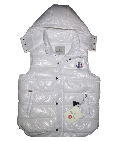 Moncler Lovers Of Men Vest Sleeveless Single-Breasted White