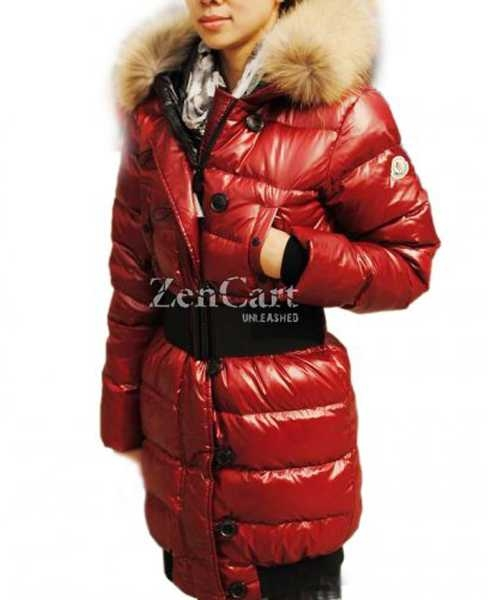 Moncler LUCIE New Women Pop Star Dark Red Coat Down