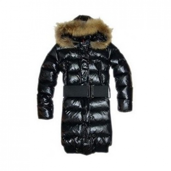 Moncler Luice Pop Star Long Down Black Coat Women