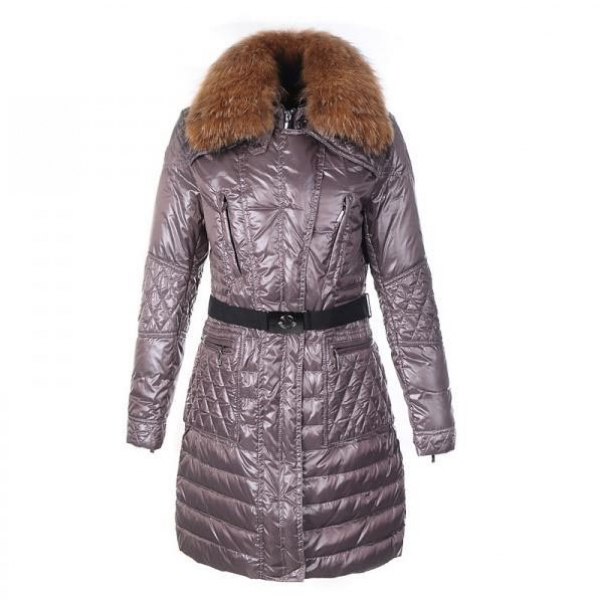 Moncler Maillol Women Coat With Belt Purple For Sale