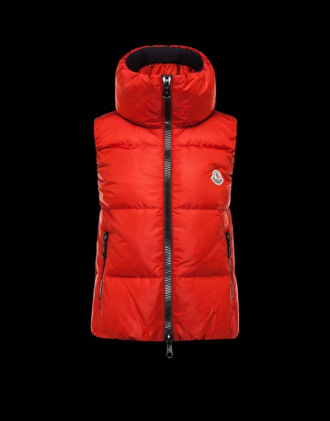 Moncler PETY Womens Down Vests Red