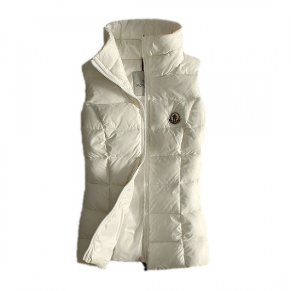 Moncler Quilted Body Warmer White Vest Women