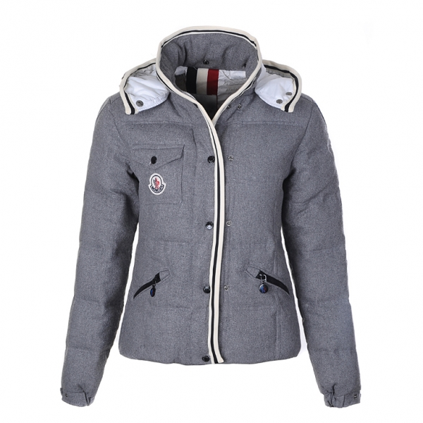 Moncler Quincy Women Jacket Gray For Sale