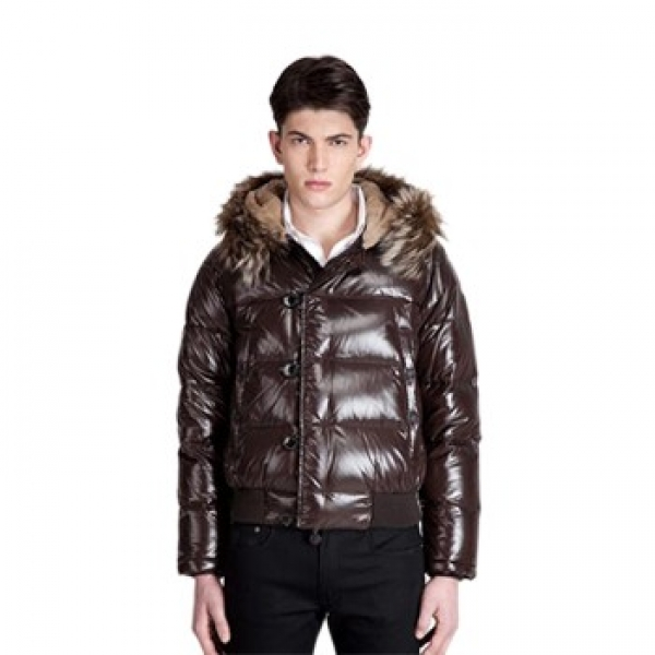 Moncler Rabbit Doudoune Brown Jacket Men