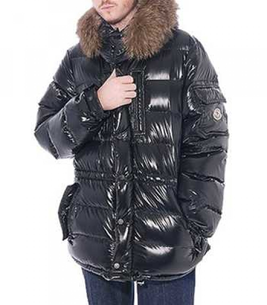 Moncler Rod Coat Down Mens Black