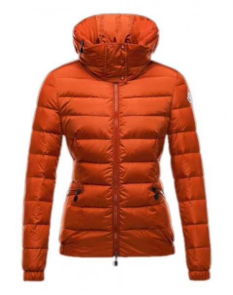 Moncler Sanglier Popular Jackets Women Zip Collar Orange